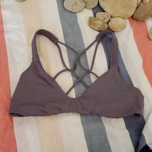 B. Swim NEW Strappy Back Bikini Top Sz L